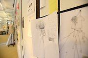 MANHATTAN, NEW YORK, AUGUST 7, 2014. Mood boards and sketches are seen by fashion designer Carolina Herrera and Creative Director Herve Pierre during a pre-fashion week fitting at her offices in Manhattan, NY. 8/7/2014 Photo by Jennifer S. Altman/For The New York Times
