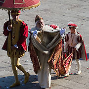 VENICE, ITALY - JUNE 12:  The Doge takes part in the Historical Pageant ahead of the Regatta of the Ancient Maritime Republics on June 12, 2011 in Venice, Italy. The idea of the Regatta of the Ancient Maritime Republics was realized in 1955 and the first edition took place in Genova.