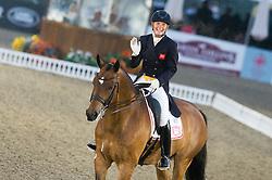 Lara Griffiths, (GBR), Rubin Al Asad <br /> CDI3* Grand Prix <br /> Royal Windsor Horse Show - Windsor 2015<br /> © Hippo Foto - Jon Stroud