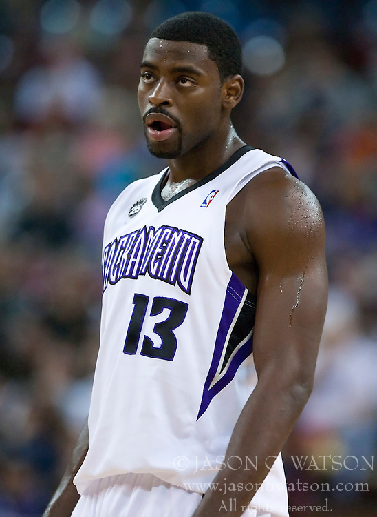 November 27, 2009; Sacramento, CA, USA;  Sacramento Kings guard Tyreke Evans (13) during the first quarter against the New Jersey Nets at the ARCO Arena. Sacramento defeated New Jersey 109-96.