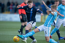 Raith Rovers Kevin Nisbet and Forfar Athletic's Michael Travis. Forfar Athletic 3 v 2 Raith Rovers, Scottish Football League Division One played 27/10/2018 at Forfar Athletic's home ground, Station Park, Forfar.