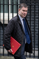 © Licensed to London News Pictures. 31/01/2017. London, UK. Chief Secretary to the Treasury David Gauke arriving at Downing Street for a cabinet meeting this morning. Photo credit : Tom Nicholson/LNP