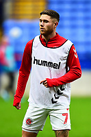 Fleetwood Town's Wes Burns warms up<br /> <br /> Photographer Richard Martin-Roberts/CameraSport<br /> <br /> The EFL Sky Bet League One - Bolton Wanderers v Fleetwood Town - Saturday 2nd November 2019 - University of Bolton Stadium - Bolton<br /> <br /> World Copyright © 2019 CameraSport. All rights reserved. 43 Linden Ave. Countesthorpe. Leicester. England. LE8 5PG - Tel: +44 (0) 116 277 4147 - admin@camerasport.com - www.camerasport.com