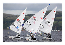 Sarah Steyaert, FRA 185350, Paige Railey, USA 197111 and Miranda Powrie, NZL 195548.Day 3 started late after strong winds postponed racing till 5pm for the Laser Radial World Championships, taking place at Largs, Scotland GBR. ..118 Women from 35 different nations compete in the Olympic Women's Laser Radial fleet and 104 Men from 30 different nations. .All three 2008 Women's Laser Radial Olympic Medallists are competing. .The Laser Radial World Championships take place every year. This is the first time they have been held in Scotland and are part of the initiaitve to bring key world class events to Britain in the lead up to the 2012 Olympic Games. .The Laser is the world's most popular singlehanded sailing dinghy and is sailed and raced worldwide. ..Further media information from .laserworlds@gmail.com.event press officer mobile +44 7775 671973  and +44 1475 675129 .