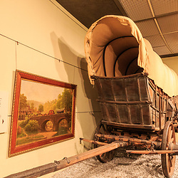 A Conestoga Wagon on display at the Pennsylvania State Museum in Harrisburg.