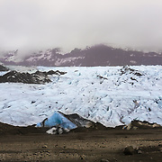 Myrdalsjokull, located in the southern Icelandic highlands, is the country's fourth largest glacier covering nearly 600 km2. I had the opportunity to drink fresh water directly from this glacier.