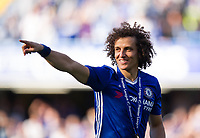 Chelsea's David Luiz celebrating the Premier League victory<br /> <br /> Photographer Ashley Western/CameraSport<br /> <br /> The Premier League - Chelsea v Sunderland - Sunday 21st May 2017 - Stamford Bridge - London<br /> <br /> World Copyright © 2017 CameraSport. All rights reserved. 43 Linden Ave. Countesthorpe. Leicester. England. LE8 5PG - Tel: +44 (0) 116 277 4147 - admin@camerasport.com - www.camerasport.com