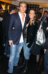 JACOBI ANSTRUTHER-GOUGH-CALTHORPE and SAM PEMBERTON at a party hosted by Versace during London Fashion Week 2005 at their store in Slaone Street, London on 19th September 2005.<br />