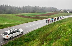 Riders during Day 1 of DOS 2021 Charity event - Dobrodelno okrog Slovenije, on April 27, 2021, 1st Stage from Novo mesto to Portoroz, 277 km, Slovenia. Photo by Vid Ponikvar / Sportida