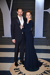 Darren Le Gallo (L) and Amy Adams attending the 2018 Vanity Fair Oscar Party hosted by Radhika Jones at Wallis Annenberg Center for the Performing Arts on March 4, 2018 in Beverly Hills, Los angeles, CA, USA. Photo by DN Photography/ABACAPRESS.COM