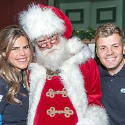 NLD/Amsterdam/20181206 - Sky Radio's Christmas Tree For Charity, Jaap Reesema en Kim Kotter met de kerstman