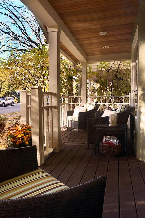 Best Residence, exterior, front porch. Lynn Donaldson & Assoc.
