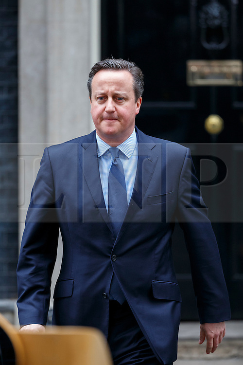 © Licensed to London News Pictures. 20/02/2016. London, UK. Prime Minister David Cameron giving a statement in Downing Street, London on Saturday, 20 February 2016 after a deal has been made on the UK's EU membership in Brussels. Photo credit: Tolga Akmen/LNP