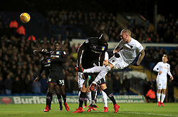 Leeds United's Pontus Jansson scores his side's first goal of the game