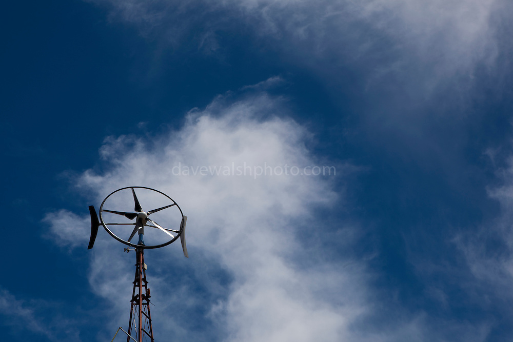 Wind turbine at the Centre for Education and Research in Environmental Strategies, Melbourne