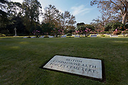 The British Commonwealth Forces cemetery during the Remembrance Sunday ceremony at the Hodogaya, Commonwealth War Graves Cemetery in Hodogaya, Yokohama, Kanagawa, Japan. Sunday November 11th 2018. The Hodagaya Cemetery holds the remains of more than 1500 servicemen and women, from the Commonwealth but also from Holland and the United States, who died as prisoners of war or during the Allied occupation of Japan. Each year officials from the British and Commonwealth embassies, the British Legion and the British Chamber of Commerce honour the dead at a ceremony in this beautiful cemetery. The year 2018 marks the centenary of the end of the First World War in 1918.