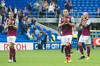 Football - 2017 / 2018 Championship - Cardiff City vs. Aston Villa<br /> <br /> <br /> John Terry & Aston Villa applaud the fans who boo them for losing 3-0 at Cardiff City Stadium<br /> <br /> COLORSPORT/WINSTON BYNORTH