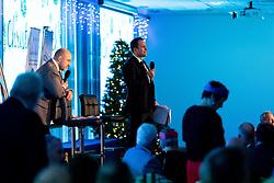 Kai Horstmann talks  at the annual Exeter Chiefs Foundation Christmas Dinner at Sandy Park - Ryan Hiscott/JMP - 07/12/2018 - RUGBY - Sandy Park - Exeter, England - Exeter Chiefs Foundation Christmas Dinner with David Flatman