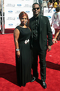 June 30, 2012-Los Angeles, CA : (L-R) TV Personality Free Williams and TV Personaity AJ Calloaway attend the 2012 BET Awards held at the Shrine Auditorium on July 1, 2012 in Los Angeles. The BET Awards were established in 2001 by the Black Entertainment Television network to celebrate African Americans and other minorities in music, acting, sports, and other fields of entertainment over the past year. The awards are presented annually, and they are broadcast live on BET. (Photo by Terrence Jennings)