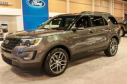 CHARLOTTE, NC, USA - November 11, 2015: Ford Explorer on display during the 2015 Charlotte International Auto Show at the Charlotte Convention Center in downtown Charlotte.