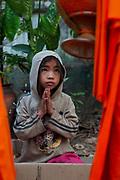 Novice monks collect alms every morning at dawn, Luang Prabang, Mekong River, Laos