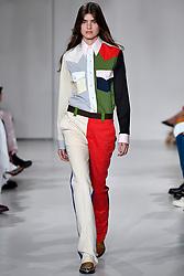 Model Skylar Tartz walks on the runway during the Calvin Klein Fashion show at New York Fashion Week Spring Summer 2018 held in New York, NY on September 7, 2017. (Photo by Jonas Gustavsson/Sipa USA)