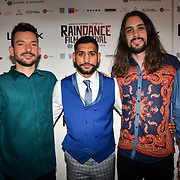 Oliver Clark , Amir Khan and Blair MacDonald attend World Premiere of Team Khan - Raindance Film Festival 2018 at Vue Cinemas - Piccadilly, London, UK. 29 September 2018.
