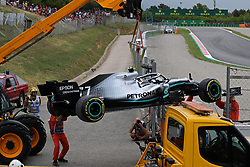 May 11, 2019 - Barcelona, Catalonia, Spain - accident of the Mercedes of Valtteri Bottas during the practices of the GP Spain Formula 1, on 11th May 2019, Barcelona, Spain. (Credit Image: © Joan Valls/NurPhoto via ZUMA Press)