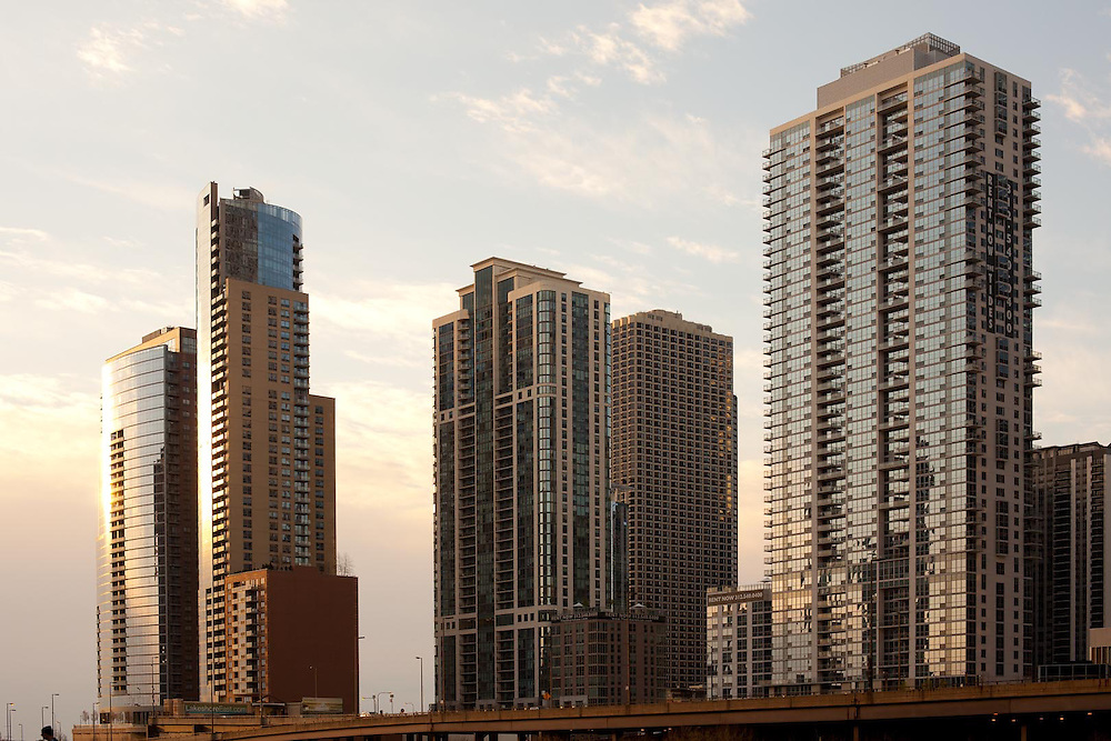 Residential buildings at downtown, Chicago, Illinois, USA