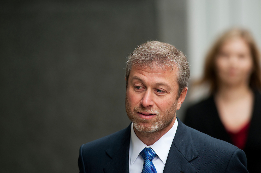 Chelsea Football Club Russian owner Roman Abramovich arrives at the Court of Appeal ahead of giving his evidence  in Central London, on October 31, 2011. Chelsea Football Club owner Roman Abramovich was accused in a British court Monday of intimidating fellow Russian tycoon Boris Berezovsky into selling him oil company shares at a large discount. Berezovsky, who lives in exile in Britain, accuses Abramovich of breach of trust and breach of contract over the sale of shares in Russian oil company Sibneft.