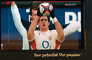 2004 England vs Canada - Investec Challenge - Twickenham.<br /><br />Big screen Andy Titterall<br />13.11.2004 Photo  Peter Spurrier. <br />email images@intersport-images.com