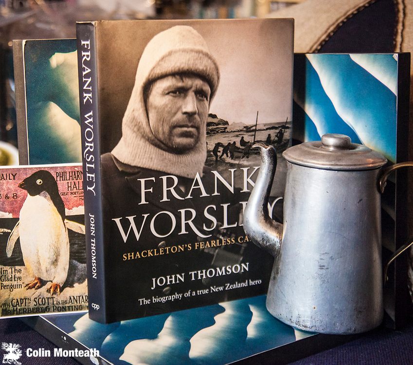 FRANK WORSLEY - Shackleton's Fearless Captain - The biography of a true New Zealand hero,  John Thomson, Potton & Burton, Revised & re-illustrated Edn., 2014, 213 page VG+ hardback  (original softbound 1st edn., called Shackleton's Captain)  - Superb biography, beautifully illustrated & sensitively written by the author of Elephant Island & Beyond  the biography of Thomas Orde-Lees and Climbing the Pole, Ed Hillary's story of driving to the South Pole -  $NZ65. (Copy#8)