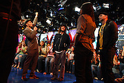 The Red Hot Chili Peppers, at MTV studios in Times Square, appear on TRL in Manhattan, NY. They have released a new album. 5/9/2006 Photo by Jennifer S. Altman