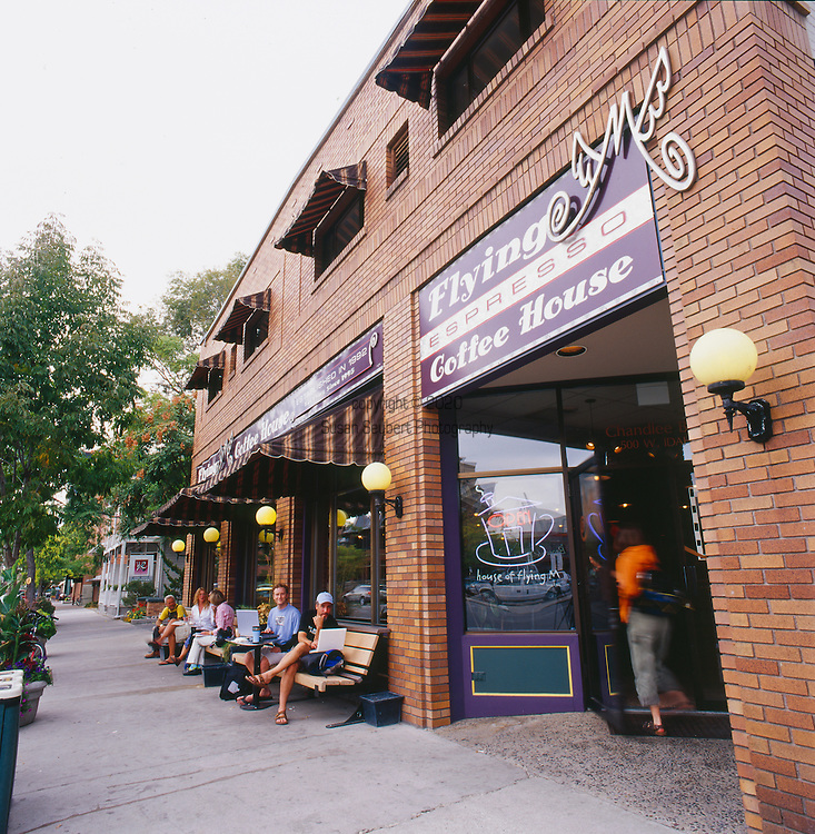 The Flying M Coffee House, a funky hangout for local Boise hipsters and artists.