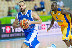 04.09.2013, Arena Bonifka, Koper, SLO, Eurobasket EM 2013, Schweden vs Griechenland, im Bild Vassilis Spanoulis #7 of Greece and Thomas Massamba #9 of Sweden // during Eurobasket EM 2013 match between Sweden and Greece at Arena Bonifka in Koper, Slowenia on 2013/09/04. EXPA Pictures © 2013, PhotoCredit: EXPA/ Sportida/ Matic Klansek Velej<br /> <br /> ***** ATTENTION - OUT OF SLO *****