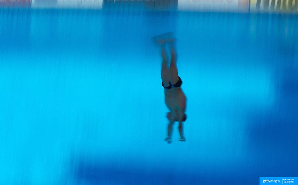 Russian divers Victor Minibaev and Ilya Zakharov competing in the Men's 10m Synchro Platform diving final where they finished tenth at the World Swimming Championships in Rome on Saturday, July 25, 2009. Photo Tim Clayton.