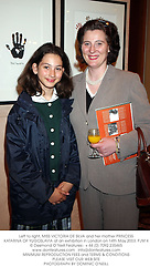 Left to right, MISS VICTORIA DE SILVA and her mother PRINCESS KATARINA OF YUGOSLAVIA at an exhibition in London on 14th May 2003.	PJM 4