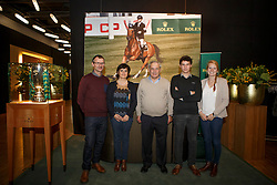 Taets Willy, (BEL), breeder Hello Sanctos and his family<br /> Prize giving WBFSH<br /> Genève 2015<br /> © Hippo Foto - Dirk Caremans<br /> 11/12/15