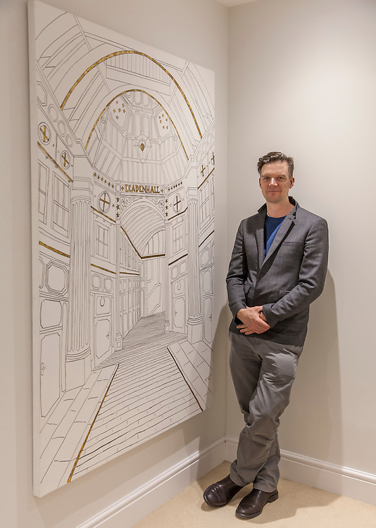 Rob Pepper, Artist, at Sullivan Street Partners, Seymour Street, London, England, on 23rd March 2016