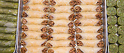 Turkish honey covered sweetmeats baklava dessert of filo pastry and nuts at Kadayif cafe Edebiyat Kiraathanesi, Istanbul, Turkey