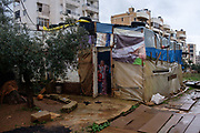 Farhan Al-Sarhan and his family live in a tent located in middle of Abou Samra area in Tripoli City for the past 4 months. None of family members is working and living only with food support and $100/month from UNHCR.