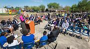 Houston ISD trustee Jolanda Jones comments during a groundbreaking ceremony at Codwell Elementary School, March 3, 2017.