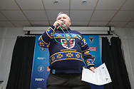 Ivor Heller in AFC Wimbledon Christmas jumper during the EFL Sky Bet League 1 match between AFC Wimbledon and Doncaster Rovers at the Cherry Red Records Stadium, Kingston, England on 14 December 2019.