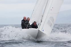 International Dragon Class Edinburgh Cup 2015.<br /> <br /> The first days racing in a strong southerly.<br /> <br /> GBR653, NJORD, Julian Adams & David Coxon, SCYC<br /> <br /> <br /> <br /> Credit Marc Turner