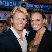 NLD/Den Bosch/20120920- Uitreiking Buma NL Awards 2012, thomas Berge en partner Myrthe Mylius