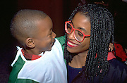 Mom and son at Youth Express Halloween party age 30 and 3.  St Paul  Minnesota USA