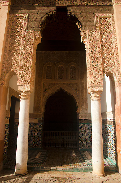 Entrance to the Saadian tombs Marrakech Morocco