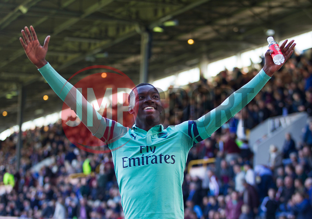 Edward Nketiah of Arsenal celebrates after scoring his sides third goal - Mandatory by-line: Jack Phillips/JMP - 12/05/2019 - FOOTBALL - Turf Moor - Burnley, England - Burnley v Arsenal - English Premier League