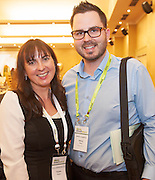 20/11/2014  repro free  Tricia Murphy Sccul enterprises, and Bruce Henry Improv Academy.ie  at the Galway Bay Hotel for the two day conference Meet West attracting over 400 business people from around Ireland for the largest networking event in the Country . Photo:Andrew Downes