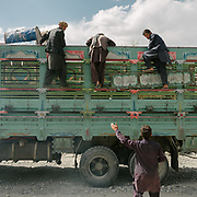 One of the rare truck bringing goods in the Wakhan corridor. The traditional life of the Wakhi people, in the Wakhan corridor, amongst the Pamir mountains.
